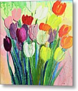 Composition Of Flowers Metal Print