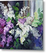 Composition Of Lilac Metal Print
