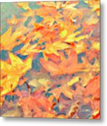 Computer Generated Image Of Autumn Metal Print