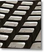Computer Keyboard Metal Print
