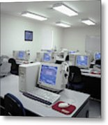 Computer Lab, C1990 Metal Print