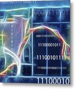 Computing - Fractalius 2 Metal Print by Steve Ohlsen