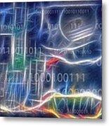 Computing - Fractalius Metal Print