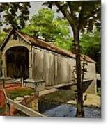 Comstock Covered Bridge East Hamptom Connecticut Metal Print