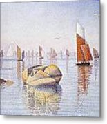 Concarneau   Quiet Morning Metal Print by Paul Signac