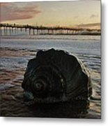 Conch Shell And Pier 2 10/17 Metal Print