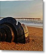 Conch Shell And Pier 6 12/5 Metal Print