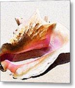 Conch Shell - Listen Metal Print