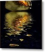 Conch Sparkling With Reflection Metal Print