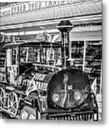 Conch Tour Train 1 Key West - Black And White Metal Print