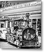 Conch Tour Train 2 Key West - Square - Black And White Metal Print