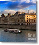 Conciergerie And The Seine River Paris Metal Print
