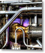 Concord Engine Hdr Metal Print by SteveHPhotos
