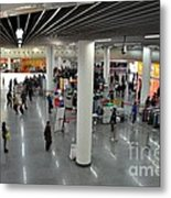 Concourse At People's Square Subway Station Shanghai China Metal Print