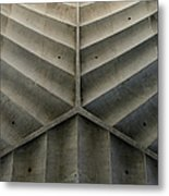 Concrete Fishbone Or Leaf Design Metal Print