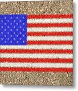 Concrete Flag Metal Print