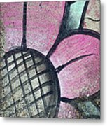 Concrete Flowers Metal Print