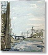Concrete Los Angeles River Metal Print