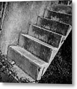 Concrete Steps Metal Print