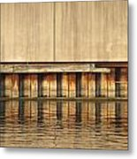 Concrete Wall And Water 1 Metal Print
