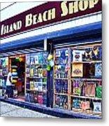 Coney Island Beach Shop Metal Print