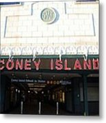 Coney Island Bmt Subway Station Metal Print