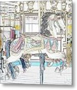 Coney Island Carousel Metal Print