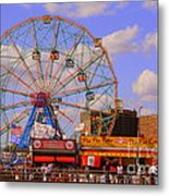 Coney Island Wonder Wheel Metal Print