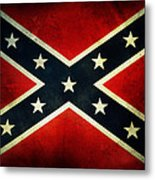 Confederate Flag 4 Metal Print