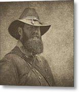 Confederate General Metal Print by Pat Abbott