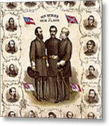 Confederate Generals And Flags Metal Print