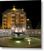 Confederation Fountain In Victoria Bc With Code Of Arms Metal Print