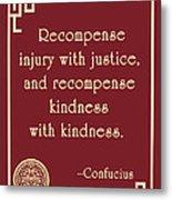 Confucius On Kindness Metal Print