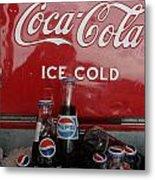 Confused Cola Metal Print