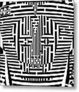 Confused Mask Maze  Metal Print