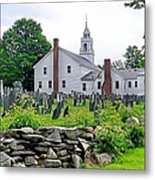 Congregational Church Cemetery Hollis Nh Metal Print by Janice Drew