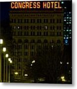 Congress Hotel In Chicago Metal Print