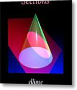 Conic Section Ellipse Poster Metal Print
