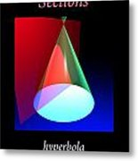 Conic Section Hyperbola Poster Metal Print