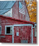 Connecticut Farmstand Metal Print