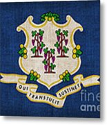 Connecticut State Flag Metal Print by Pixel Chimp