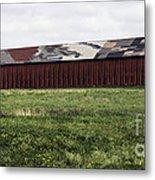 Connecticut Tobacco Barn Metal Print