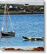 Connemara Boats Metal Print