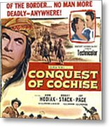 Conquest Of Cochise, Us Poster, Top Metal Print