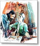 Conquistadores On The Boat In Vila Do Conde In Portugal Metal Print