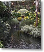 Conservatory In Autumn Metal Print