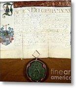 Constantijn Huygens Knighthood 1622 Metal Print