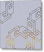Construct Number Four Metal Print