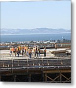 Construction Continues On The Last Few Feet Of The New Oakland Bay Bridge Metal Print