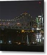 Construction Continues On The Oakland Bay Bridge Metal Print